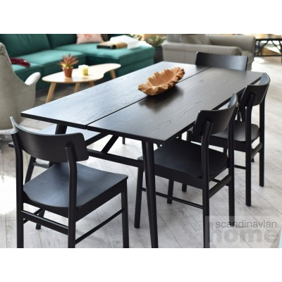 ODENSE Set: Dining Table + 4 Chairs