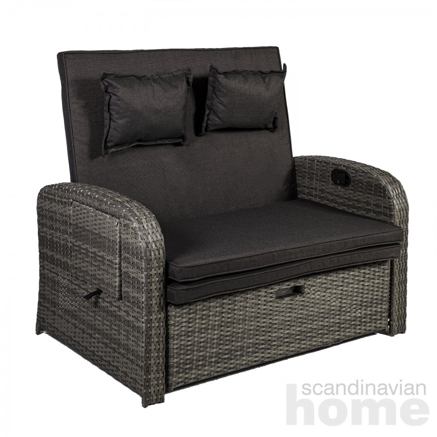 Recliner sofa COLOMBO with adjustable back- and footrest