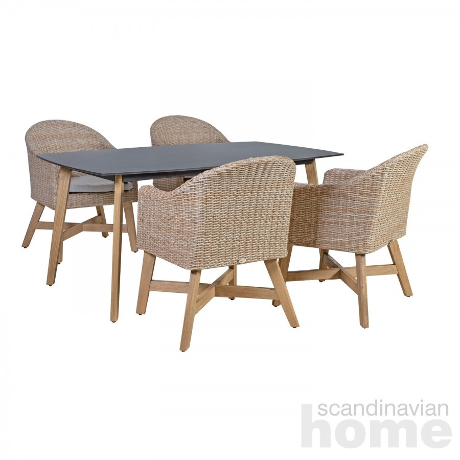 Garden furniture set HENRY table and 4 chairs