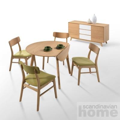 Комплект: Обеденный стол JAXTON + 4 стула