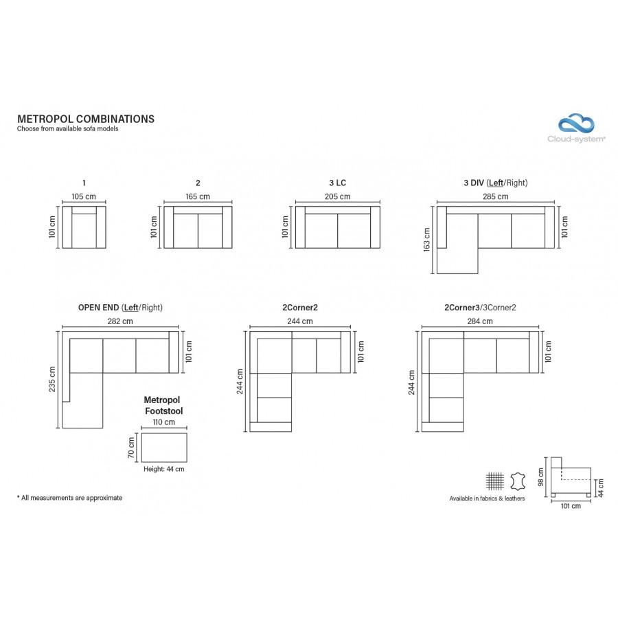 Metropol corner modular sofa